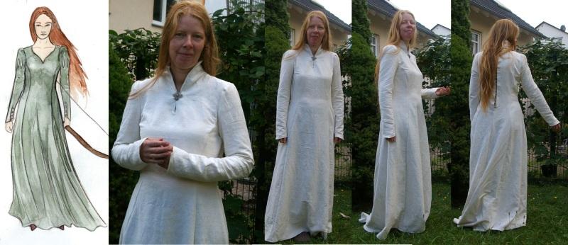 Kleid ungefärbt