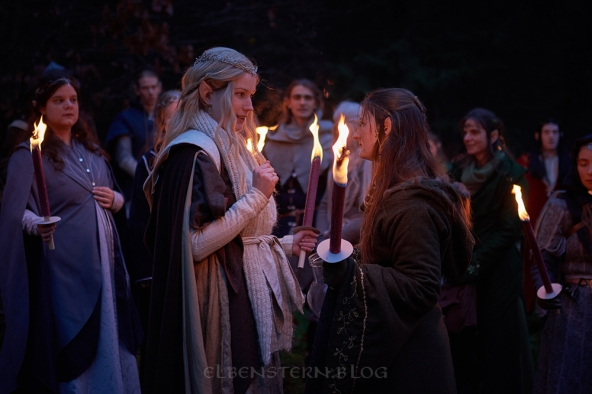 Celendria Elves Suliriel and Lasbaerlinn during the ceremony